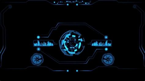 Animated Wallpaper For Deskscapes - hi tech hud for dreamscene videowallpaper deskscape
