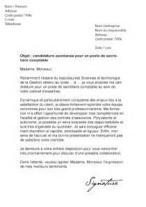 modele lettre de motivation secretaire comptable document
