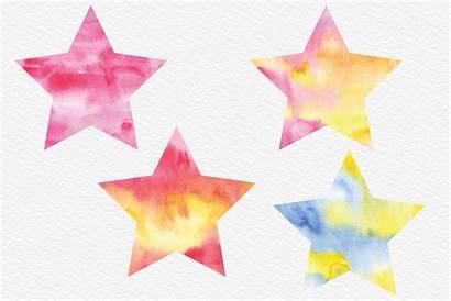 Star Stars Clip Clipart Watercolor Sky Night