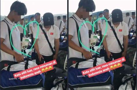 viral  twitter atlet asal tiongkok tertangkap kamera