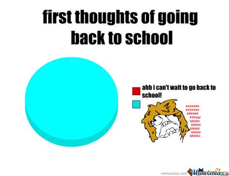 Going Back To School Memes - first thoughts of going back to school by coolcat03 meme center