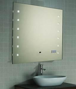 Badspiegel 80 X 60 : led spiegel badspiegel rasier kosmetik wandspiegel uhr sensor 80x60 cm b led h ebay ~ Bigdaddyawards.com Haus und Dekorationen