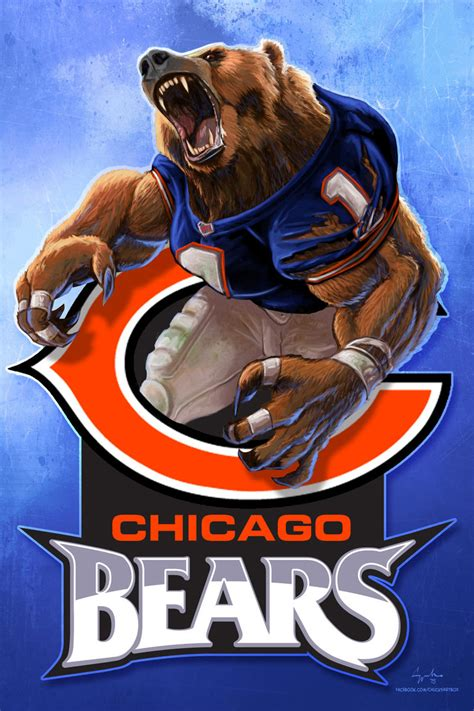 Chicago Bears 2015 Wallpaper Chicago Bears Nfl Football Werebear Cheer Art By
