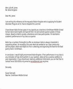 sample reference letter for schools 7 examples in pdf word With reference letter template for volunteer