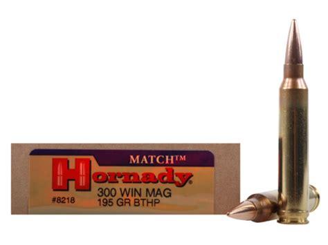 Hornady Match Ammo 300 Winchester Mag 195 Grain Hollow