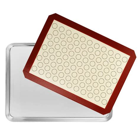 baking silicone sheet mat sheets pan steel mats inch cookie stainless batsdeals toxic duty heavy non easy