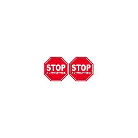 Autocollant Stop 224 L Homophobie