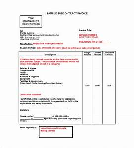 construction invoice template 8 free sample example With free invoice template subcontractor invoice template