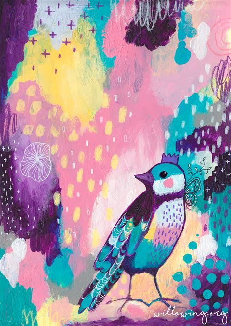 Abstract Bird 2 - Art Print - Willowing Arts