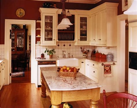 perfect red country kitchen cabinet design ideas for living with color red this lovely home