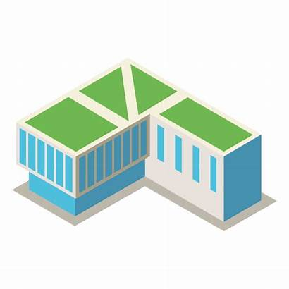 3d Building Isometric Library Transparent Background Icon
