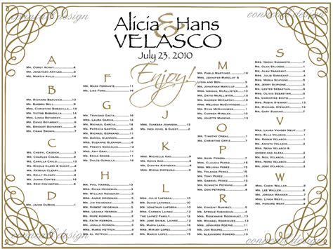 bridal shower seating chart template seating chart templates for wedding reception