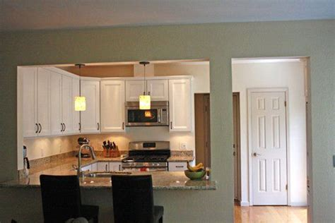 removing  wall  rooms   opened  wall   kitchen   dining room kitchen   amenagement cuisine