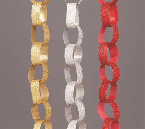 premier glitter paper chain assorted stax trade centres