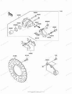 Kawasaki Motorcycle 2010 Oem Parts Diagram For Rear Brake