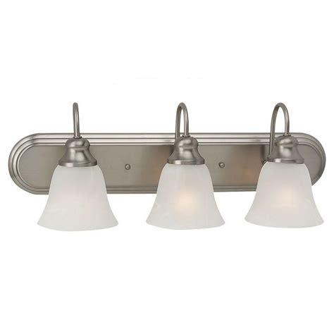 led barn lights home depot sea gull lighting windgate 9 in w 3 light brushed nickel