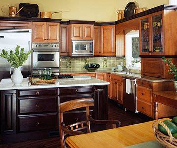 different color cabinets in kitchen contrasting kitchen islands black crown moldings at the 8688