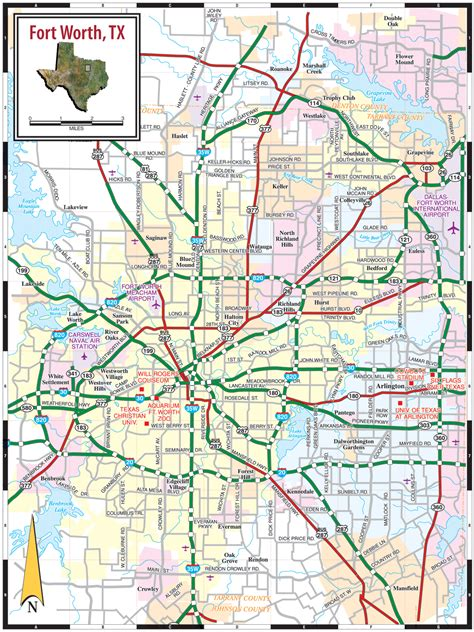 texas map fort worth