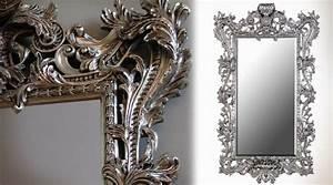Miroir Baroque Argenté : tr s grand miroir baroque argent 2 5 m tres ~ Teatrodelosmanantiales.com Idées de Décoration