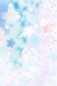【人気139位】淡い桜模様のかわいいiPhone壁紙