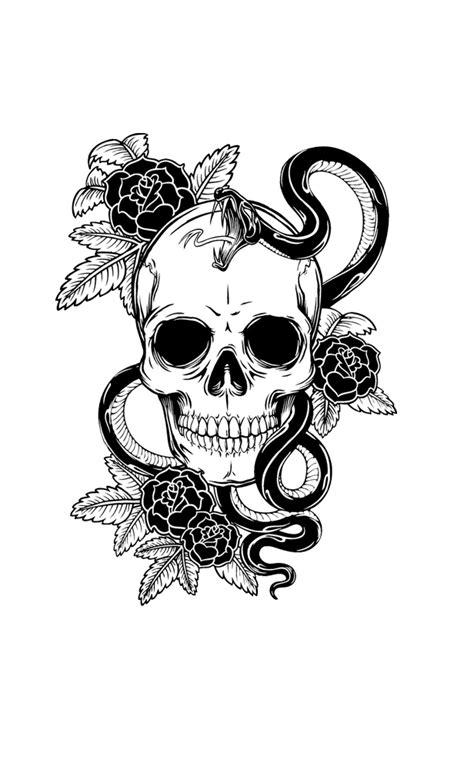 tattoo flower skull calavera  shirt snake clipart png  freepngclipart