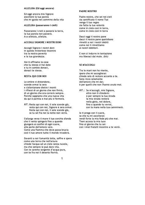 alleluia canzone testo canti per lachiesa by il portico novellara issuu