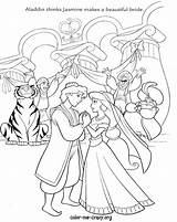 Coloring Disney Princess Printable Jasmine Aladdin Drawing Couples Wishes Bride Groom Cinderella Personalized Pocahontas Cana Getcolorings Prince Getdrawings Colorings Bubakids sketch template