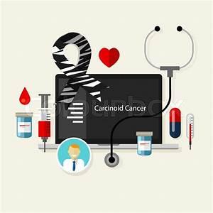 Carcinoid Cancer Medical Zebra Ribbon Treatment Health