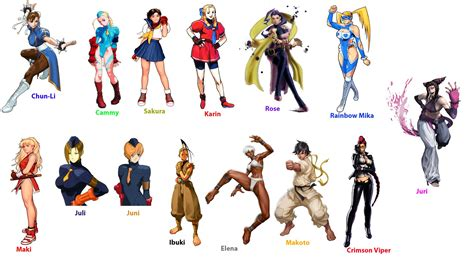 Street Fighter All Characters Street Fighter Girl