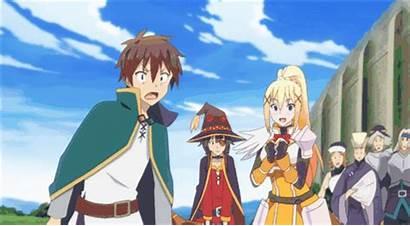 Anime Konosuba Blessing Wonderful Gods Words