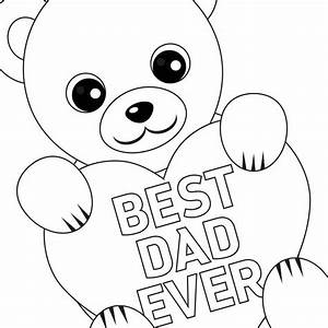 Free Printable Father's Day Coloring Card and Page