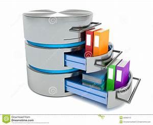 Stockage De Données : concept de stockage de base de donn es ic ne de disque dur avec des dossiers illustration stock ~ Medecine-chirurgie-esthetiques.com Avis de Voitures