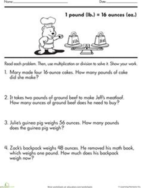 weight worksheets images worksheets math