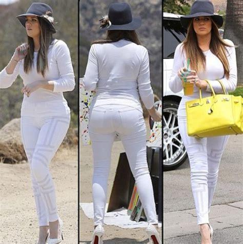 Jeans: khloe kardashian, white ensemble, hat   Wheretoget