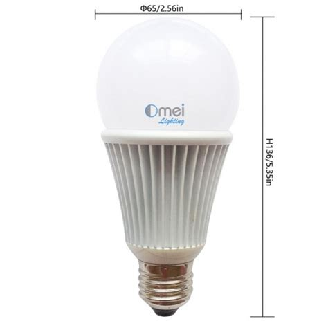 10w 12v led bulb warm white a19 small size 900 lumens