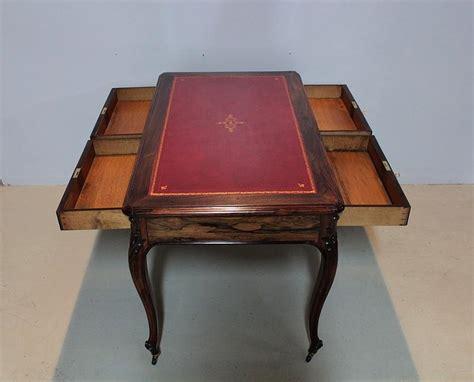 bureau palissandre table bureau louis xv en palissandre xixeme antiquites