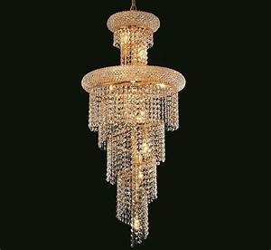 Spiral collection light large crystal chandelier