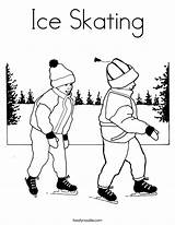 Skating Coloring Ice Pages Skate Template Winter Skater Skates Noodle Colouring Figure Roller Twisty Twistynoodle California Outline Popular Getcoloringpages Patinaje sketch template