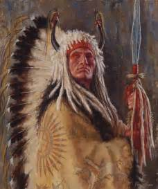 Native American Chief Painting