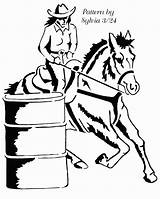 Barrel Horse Clipart Racing Racer Clip Cliparts Drawing Slow Easy Female Patterns Dover Scroll Library Cowgirl Cornucopia Clipground sketch template