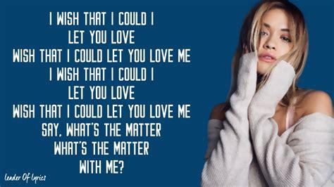 Let You Love Me (lyrics)