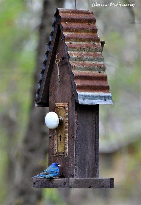 rebeccas bird gardens blog rustic bird feeder  diner
