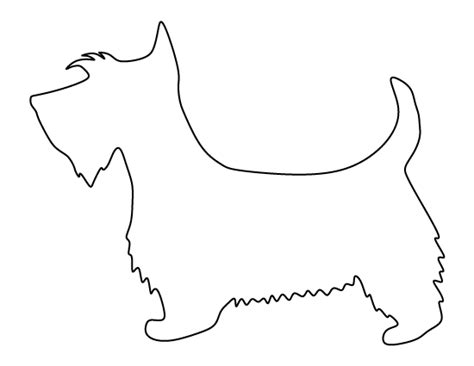 scottie dog pattern   printable outline  crafts