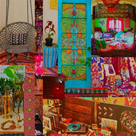 illustrated moodboard boho home inspiration  shopping