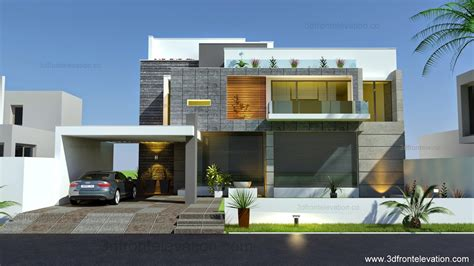 beautiful modern contemporary house elevation