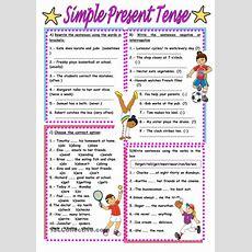 Simple Present Tense Worksheet  Free Esl Printable Worksheets Made By Teachers Ingles