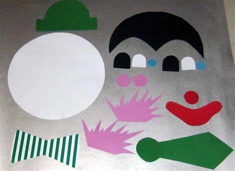 clown gesicht basteln bastelvorlage clown aus tonpapier selber basteln