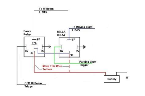 bosch relay 12v 30a wiring diagram inside bosch relay