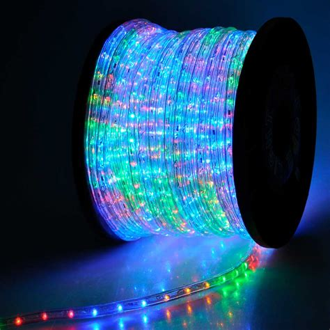 christmas lighting led rope light 150ft multi color with connector thelashop