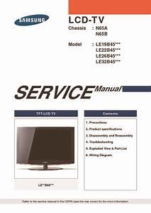 Samsung Le32b450   Chassis N65a  N65b  Service Manual